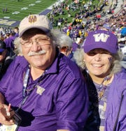 Bob and Teri Patterson at Husky Stadium.