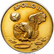 This gold medal that flew aboard Apollo 11 half a century ago sold at auction in July for $2.05 million. The medal is part of the Neil Armstrong collection that his two sons have sold for the past year. The fourth auction begins online Oct. 25.