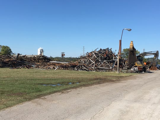Demolition of the old Vulcan plant on College Street is underway.