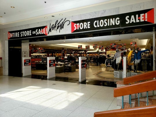 Store closing signs at the Lord & Taylor store at Woodbridge Center