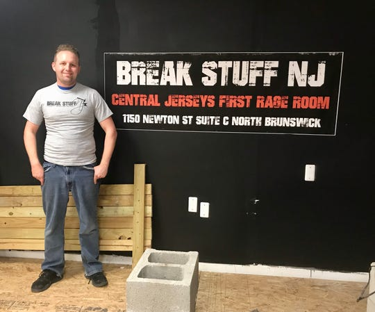 Owner Andrew Powers at Break Stuff NJ in North Brunswick.