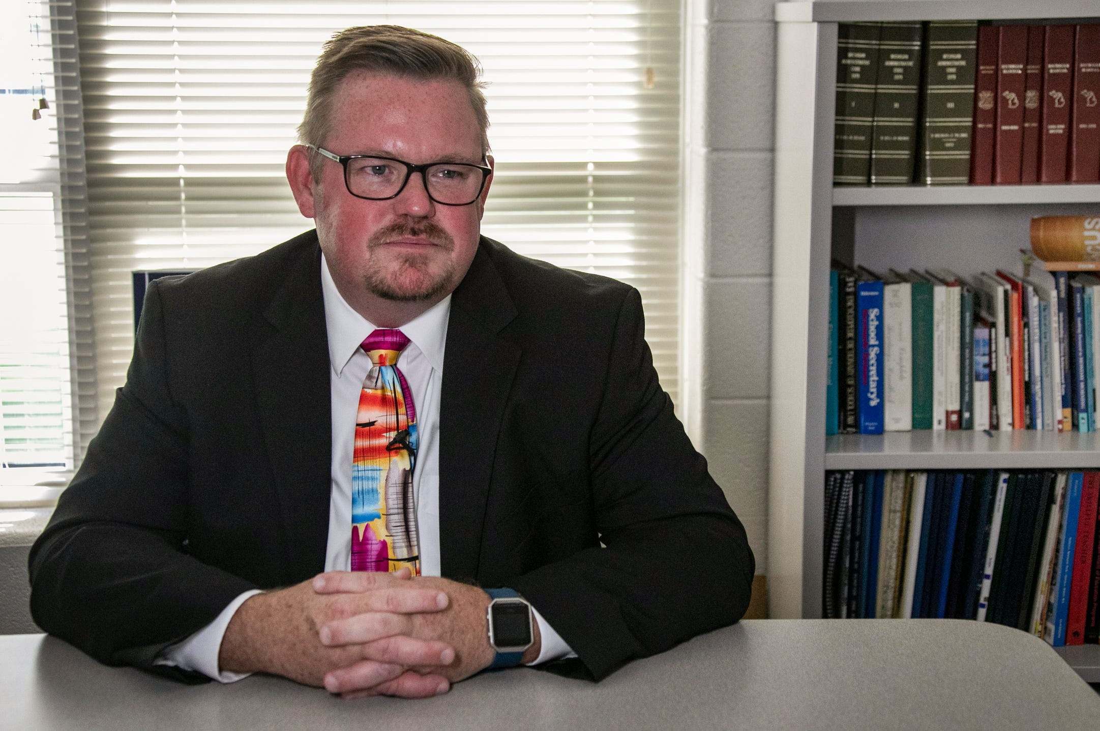 """Superintendent Rick Heitmeyer says Baldwin Community School communities are """"fairly isolated."""" The Baldwin Promise helps high school  students pursue college."""