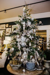 Set up your tree early with a sparkling white theme that can tie into your Thanksgiving celebration as well.