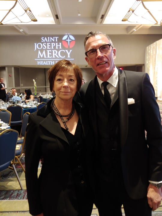 "Margaret and Michael Simcoe attend the Make-a-Wish Foundation of Michigan's annual Wish Ball, ""Reflecting, Transforming and Accelerating"" at the Detroit Marriott Renaissance Center, October 12, 2019."