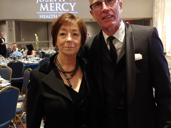 """Margaret and Michael Simcoe attend the Make-a-Wish Foundation of Michigan's annual Wish Ball, """"Reflecting, Transforming and Accelerating"""" at the Detroit Marriott Renaissance Center, October 12, 2019."""