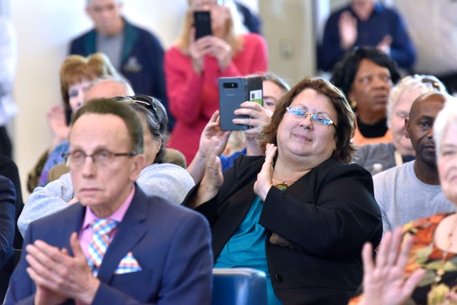 Warren Mayor Jim Fouts, left, is outraged by actions taken by City Council, including former councilwoman Kelly Colegio, right.