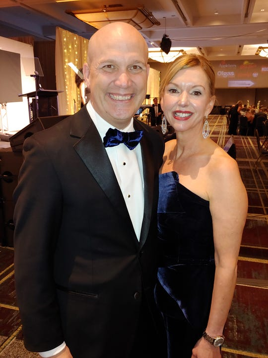 "Co-chairs, Chris and Jennifer Granger attend the Make-a-Wish Foundation of Michigan's annual Wish Ball, ""Reflecting, Transforming and Accelerating"" at the Detroit Marriott Renaissance Center, October 12, 2019."