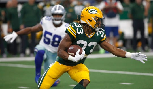 Packers running back Aaron Jones has a pair of 100-yard rushing games this season.