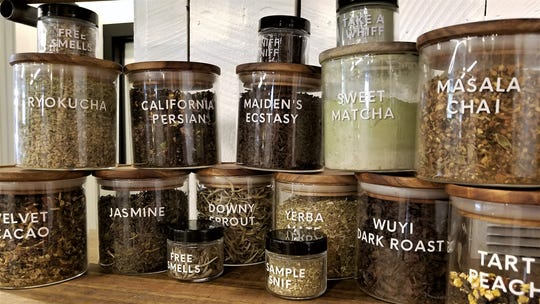 The Refinery offers a large selection of bulk teas. Feel free to sniff before you buy.