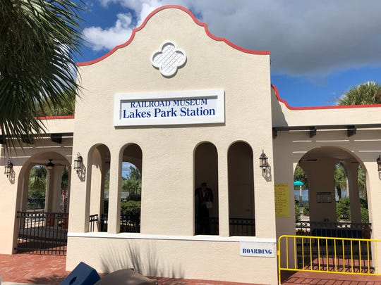 Lakes Park Station, a railroad station replica, has been completed at Lakes Park in Fort Myers.
