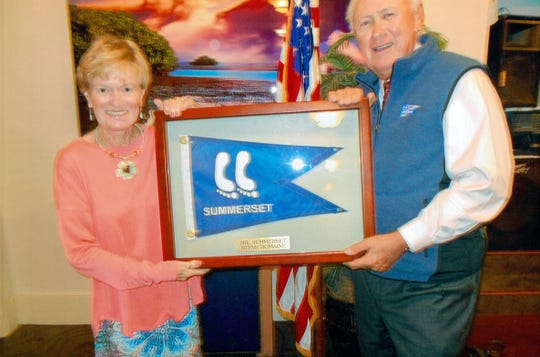 Steve Romaine, pictured with his wife Connie, was honored by the CMCS as Mr. Summerset.