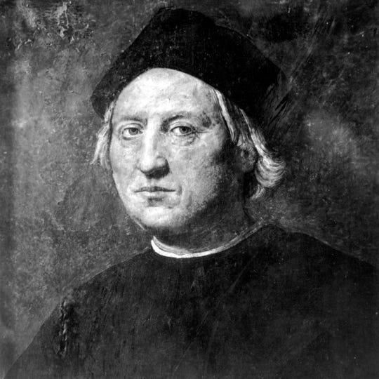 This undated portrait attributed to Rodolfo Ghirlandaia shows Italian explorer Christopher Columbus.