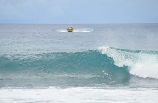 Hazardous surf of 7 to 9 feet is expected along north-facing reefs until Monday.