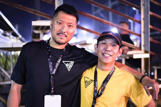 Jia Wang, left, and Art DeGuzman at Electric Island Festival 7 June 22. Wang, CEO of EIF and parent company 6AM Group, partnered with DeGuzman, festival director, to bring electronic music to Guam and help grow the local music scene. Their first-ever Halloween event will be Oct. 26 at the Guam International Raceway.