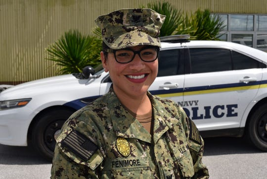 Petty Officer Second Class Monica Fenimore is a master-at-arms serving with Naval Base Guam Security Detachment. Fenimore is responsible for providing law enforcement on Naval bases. She is a 2005 George Washington High School graduate and Chalan Pago, Guam, native. Fenimore credits success in the Navy to many of the lessons learned in Chalan Pago.