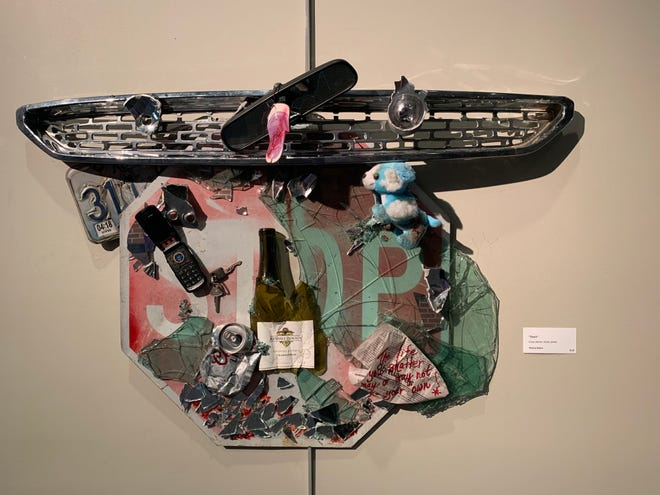 """Don't"" by Marcia Baker is among the works being shown in the Art of Recycling VIII exhibit."