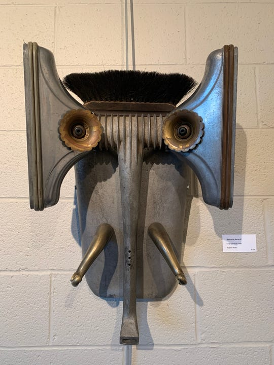 """Poaching Sucks II"" by Stephen Marks is among the works being shown in the Art of Recycling VIII exhibit."