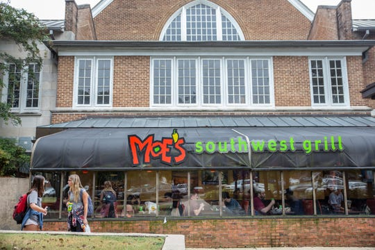 Moe's Southwest Grill at Mississippi State Tuesday, October 9, 2019.