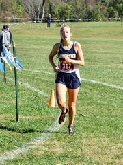 Lancaster junior Meagan Ward placed fourth in the Ohio Capital Conference-Ohio Division cross country meet on Saturday.