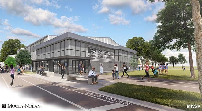 The design for the Norton Sports Health Athletics & Learning Complex in Louisville's West End.