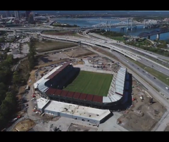Check out the progress on the Louisville City FC soccer stadium in Butchertown