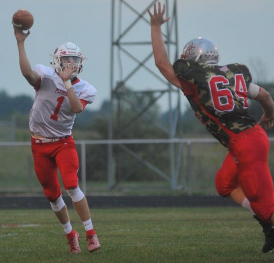 Plymouth's Walker Elliott has been instrumental in leading the Big Red to a 5-2 record through seven weeks.