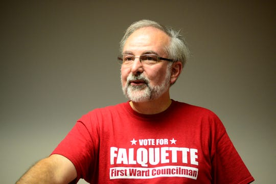 David Falquette, first ward councilman, is running for an open at-large council seat.