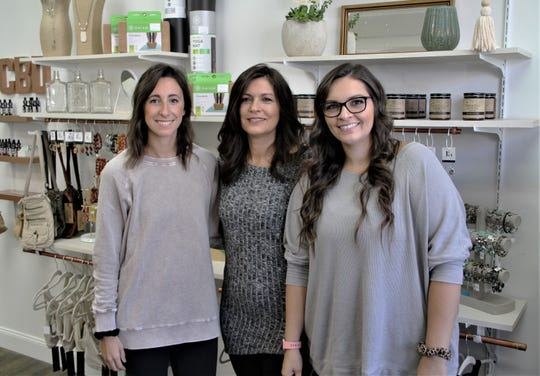 Brooke Johnston, Marie Denton, and Courtney Robinson are the co-owners of Finding Center, a new boutique in downtown Marion that offers hot yoga classes as well as apparel, jewelry, and other accessories. The boutique is located at 141 E. Center St.