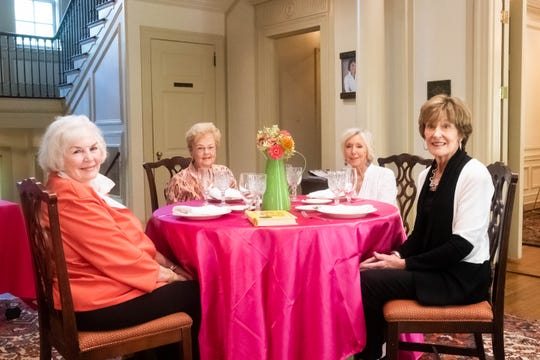 From left to right: Mary Joy Knowlton, Foy Coolidge, Jean House, and Barbara Prest pose for a portrait inside the Junior League of Memphis headquarters Monday, Sept. 30, 2019.