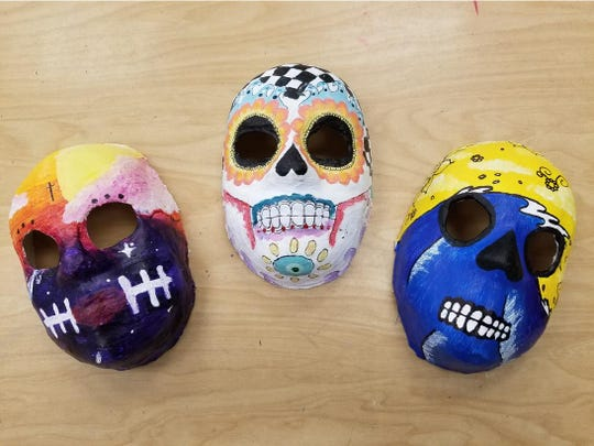 """From the """"Day of the Dead"""" exhibit by Marco Island Charter Middle School students, under the direction of Art Teacher Gigi Garraty, in the Rush Gallery at the Marco Island Center for the Arts."""