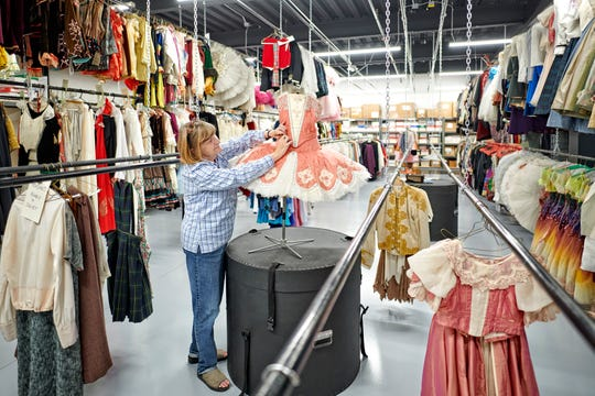 Costume manager Mary Piering is a prime beneficiary of the Milwaukee Ballet's new home, the Baumgartner Center for Dance on N. Jackson St. The new facility has much more room to store, refresh and create costumes for dancers.