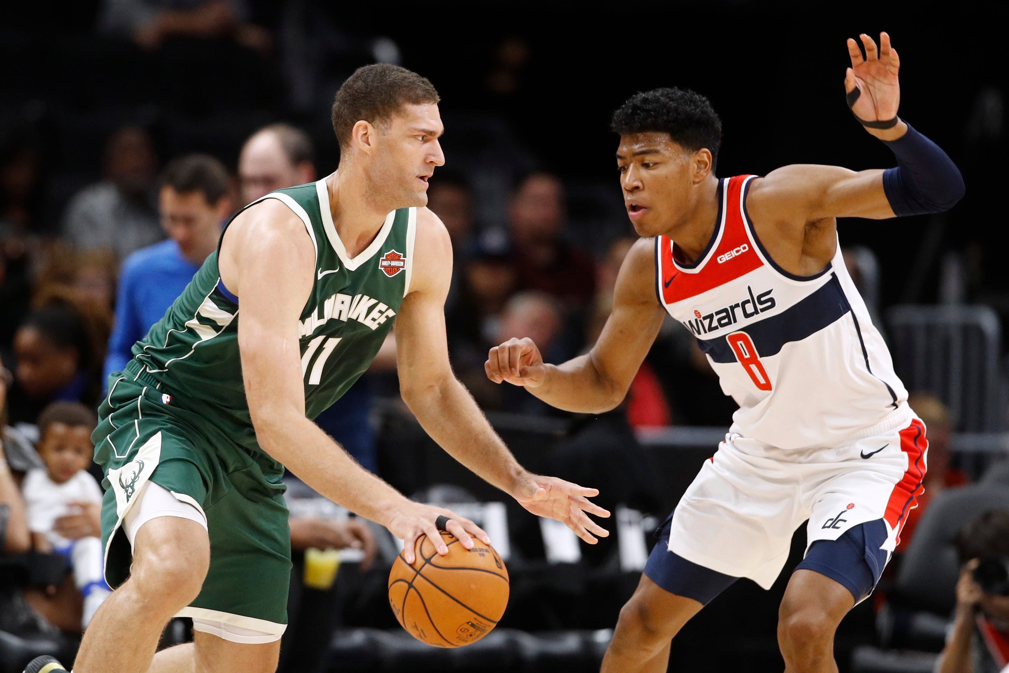 Photos from the Bucks' preseason victory over the Wizards in our nation's capital