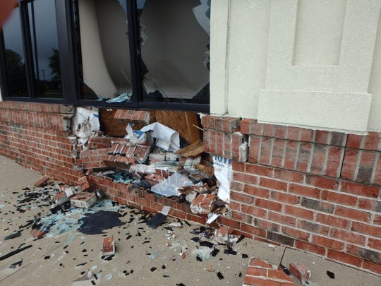 A vehicle recently struck a dentist's office in the village of Hartland.