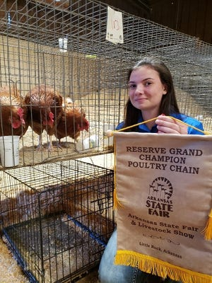 Katy Richard of Norfork was recently named Reserve Grand Champion at the Arkansas State Fair in Little Rock.