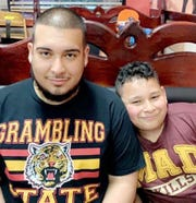 Alejandro Valadez Jr., 9, helped raise money for Grambling State University after his brother Santiago Tamez, a freshman at the HBCU, told his family about the need for additional support.