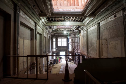 Inside the former City Federal building currently undergoing renovations in Montgomery, Ala., on Monday, Oct. 14, 2019.
