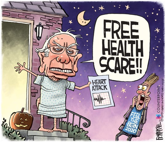 Bernie Free Health Scare