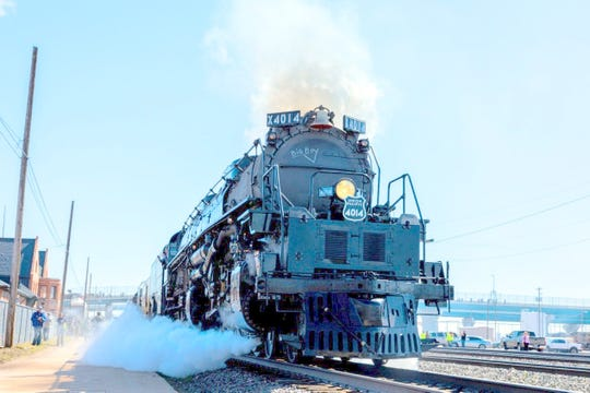 Union Pacific's Big Boy No. 4014 is expected to stop in Deming between 10:15 and 11 a.m. on Sunday at the Ruby Street crossing.