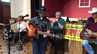 Hatch Valley farmer Eric John Silva joined Deming Performing Arts Theater Jam Session on Sunday in Deming, NM