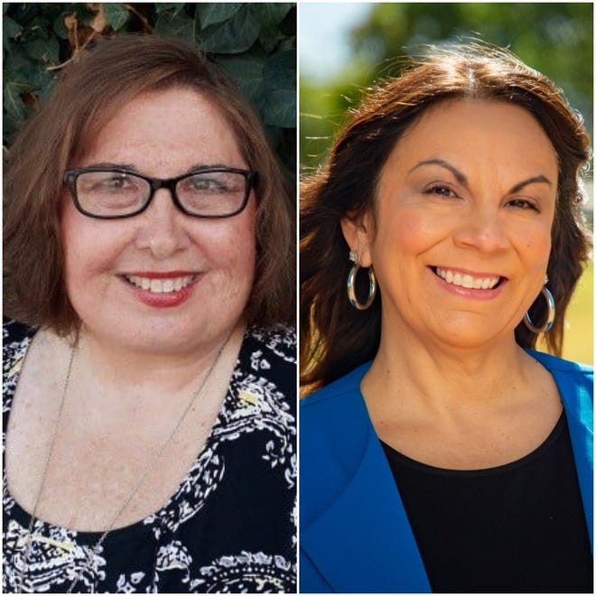 From left, Las Cruces city council candidates Shelly Nichols-Shaw and incumbent City Councilor Kasandra Gandara, running to represent district 1 in the Nov. 5, 2019 election.