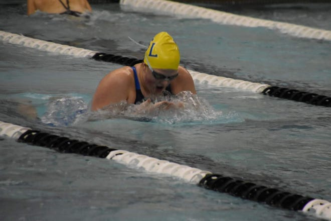 South Lyon's Kendra Ebel qualified for states in the 100 breaststroke.