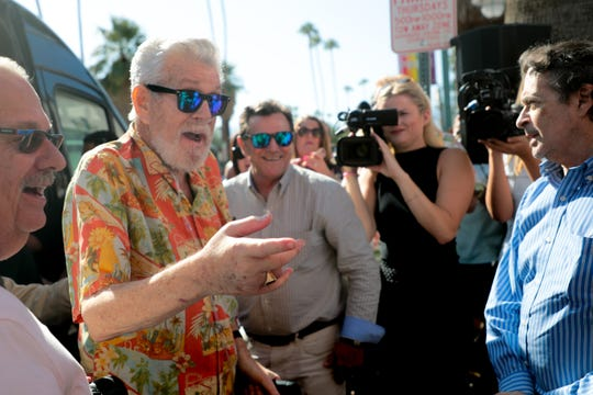 Bill Feingold arrives at the Palm Springs Walk of Stars on Monday, October 14, 2019 in Palm Springs, Calif.
