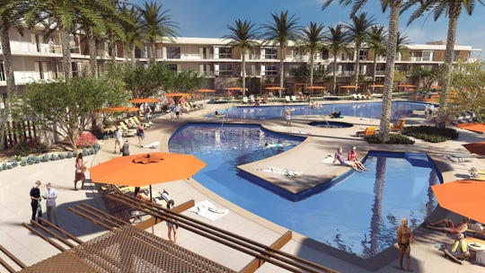 Living Out will have two pools, including a resort-style swimming pool surrounded by cabanas plus a lap pool for fitness usage.