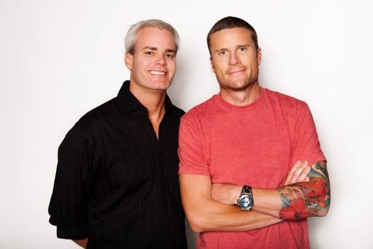 Matt McAllister (right) and Ben Campbell during their partnership in Phoenix at KNIX.