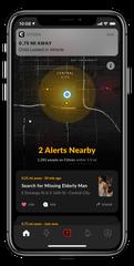 Citizen app, viewed on an iPhone