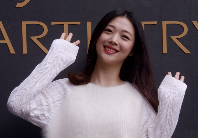 Oct. 14, 2019: The body of K-pop singer Sulli was found at her home in Seongnam just south of Seoul. She was 25.