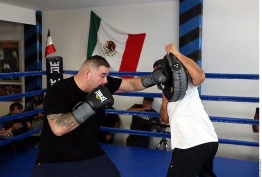 Andy Ruiz Jr. se prepara para su segunda pelea contra Anthony Joshua, el 7 de diciembre.