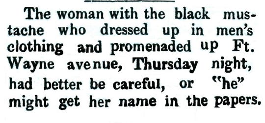 The Oct. 21, 1877, Richmond Independent noted a strange occurrence on Fort Wayne Avenue.
