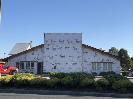 Construction on Jo Jo's Family Restaurant, the eatery which will replace Golden Corral at East Naylor Mill Road, was visible as of Friday, Oct. 11.
