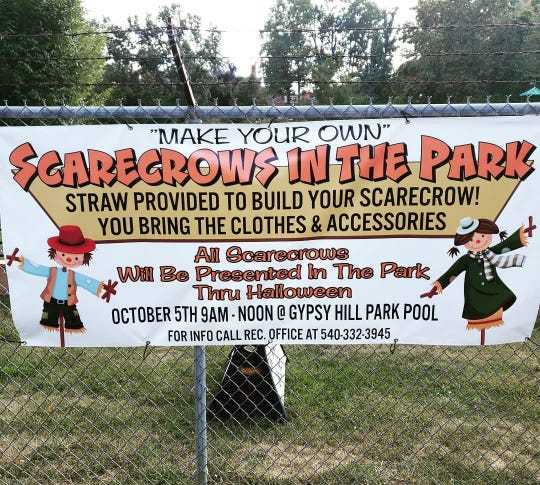 There was a make your own scarecrow event in Gypsy Hill Park this month.